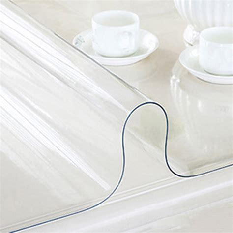 clear vinyl table protector yazi pvc clear tablecloth waterproof table protector