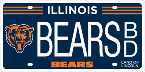 State Of Illinois Vanity Plates Illinois Releases Official Chicago Bears License Plates