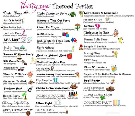 themed titles for events find more fabulous thirty one products and ideas at www