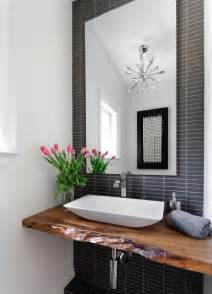 Electrical Plan bring living room style to your powder room