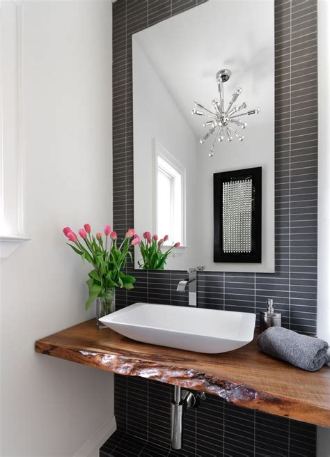 Powder Bathroom | bring living room style to your powder room