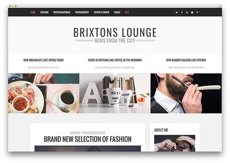 best designed blog 20 best fashion blog magazine wordpress themes 2018