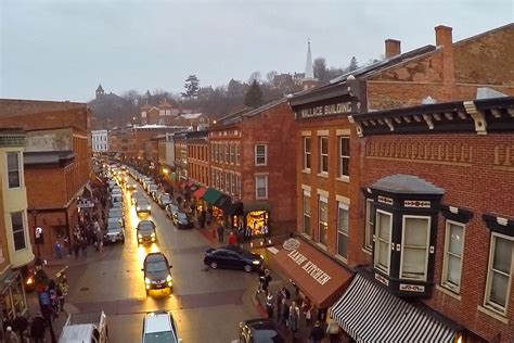 galena illinois on the road again on the run from old man winter