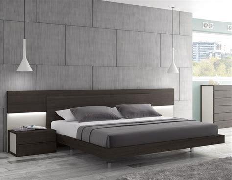 modern platform bed king maia modern king size platform bed