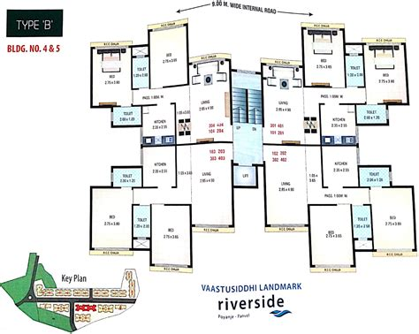 550 sq ft 1 bhk floor plan image dasnac designarch e 550 sq ft 1 bhk 1t apartment for sale in vaastu siddhi