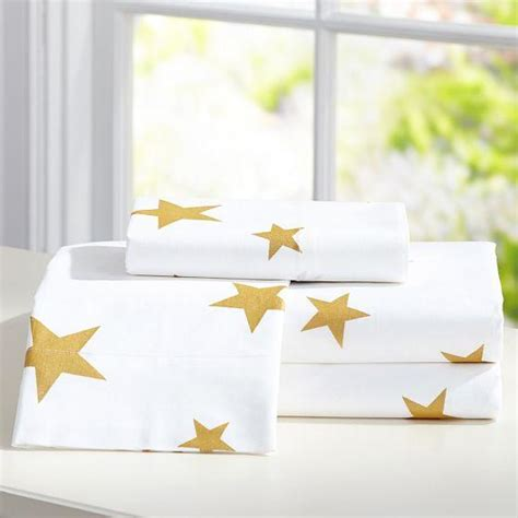 metallic gold bedding the emily meritt metallic star sheet set pbteen