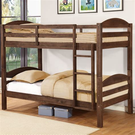 twin over double bunk bed wildon home 174 alissa twin bunk bed reviews wayfair