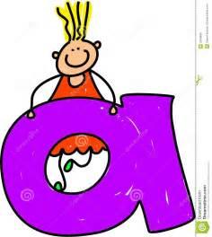 letra a la muchacha de a ilustraci 243 n vector imagen de