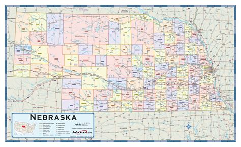nebraska county map nebraska counties wall map maps