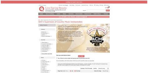 Country Music Sweepstakes - qvc s superstars of country music sweepstakes