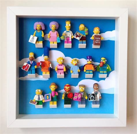 Frame Lego Minifigure Series 15 Display lego simpsons series 2 minifigures frame lego