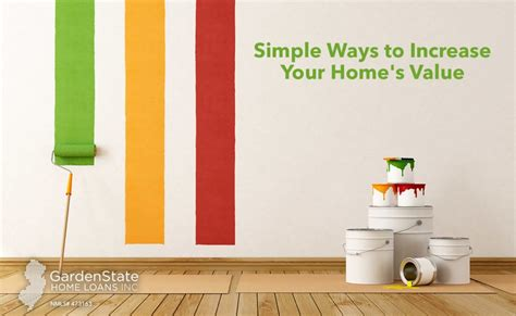 ways to increase home value simple ways to increase your home s value garden state