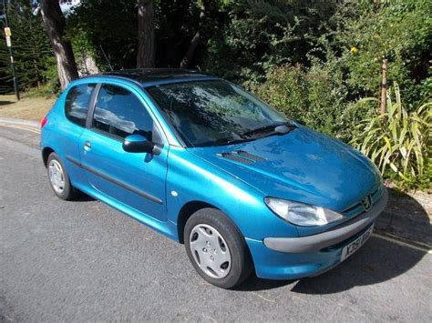 blue peugeot for sale used peugeot 206 2000 petrol 1 1 lx 3dr ac hatchback
