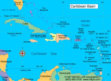 map of caribbean with country names map of the caribbean