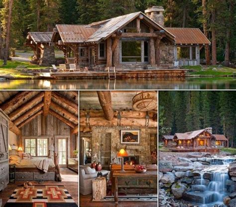 Big Cabins On The Lake by Another Beautiful Wooden House On A Lake In The Forest