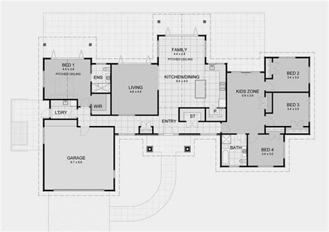 Home Layout Design Lifestyle Plan 4 House Plans With Generous Proportions