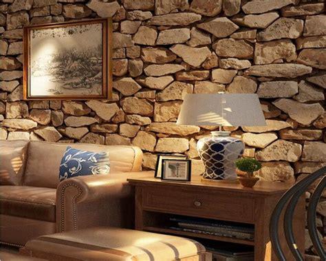 beibehang vintage  brick wallpaper rock wallpaper fake striped restaurant living room