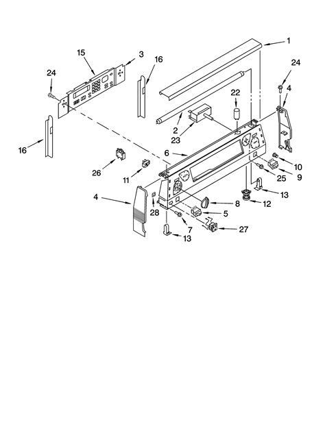 kitchenaid microwave parts diagram kitchenaid ykerc507hs4 free standing electric range timer