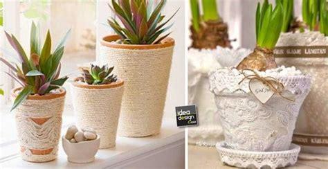 vaso shabby chic vasi di terracotta shabby chic fai da te 20 idee