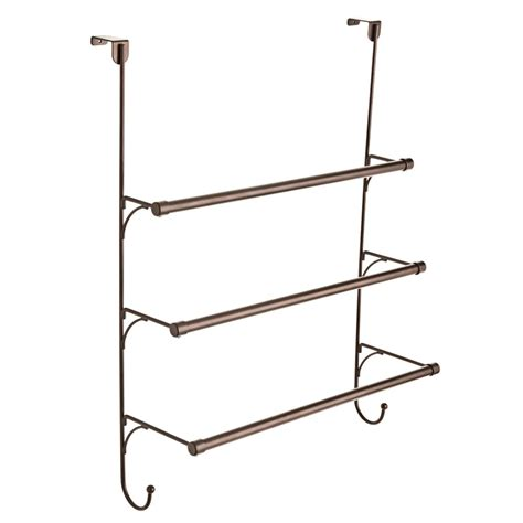 brass towel racks for bathrooms franklin brass over the door 3 bar towel rack in bronze