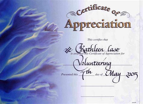10 best images of certificate of appreciation