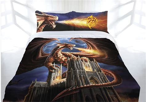 dragon bed set anne stokes dragon fury doona cover bed set double queen