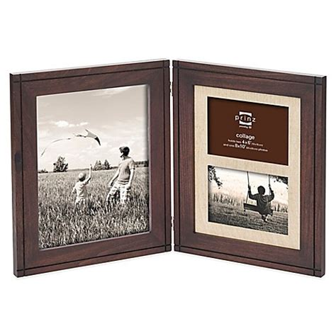 bed bath and beyond picture frames prinz dryden dark walnut wood 3 opening multi picture