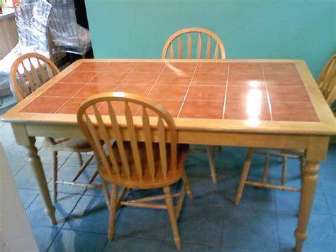 tile top kitchen table and chairs for sale