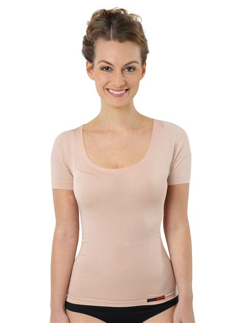 women s women s invisible undershirt nude colored short sleeves