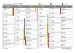 Calendrier 2018 Avec Les Semaines Vacances Scolaires 2018 2019 Dates Icalendrier