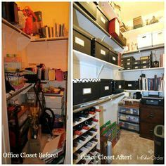 holly s closet home office makeover before after smart home office closet organization ideas storage