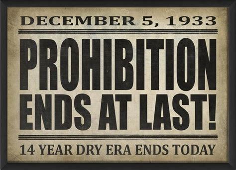 prohibition ends at last large framed poster