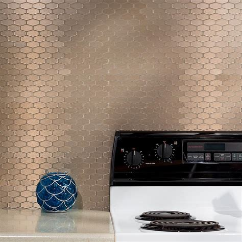 aspect metal backsplash peel and stick matted metal backsplash tiles aspect