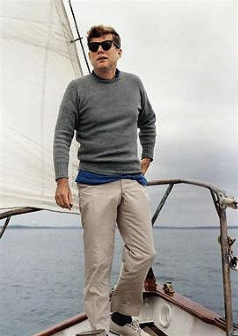 for true kennedy style stand on the bow of a grand yacht