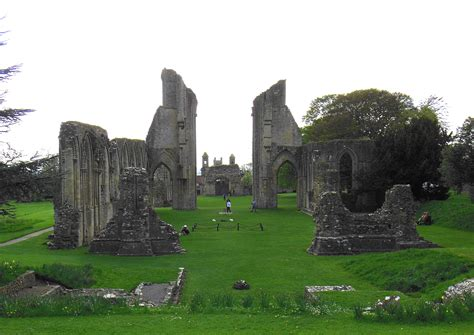 hd glastonbury abbey monastery  country uk hd  wallpaper