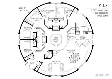 home layout design floor plan dl 6003 monolithic dome institute