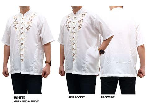 Baju Koko Putih Revkaz baju muslim pria koko lengan pendek murah berkualitas