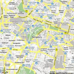 Bangalore India Map by Map Of Bangalore India Hotels Accommodation