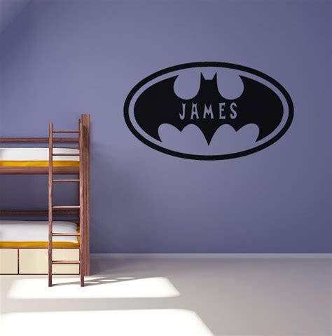 boys wall stickers for bedrooms personalised batman wall sticker boys bedroom decal graphic mural 163 9 99 via etsy superheros