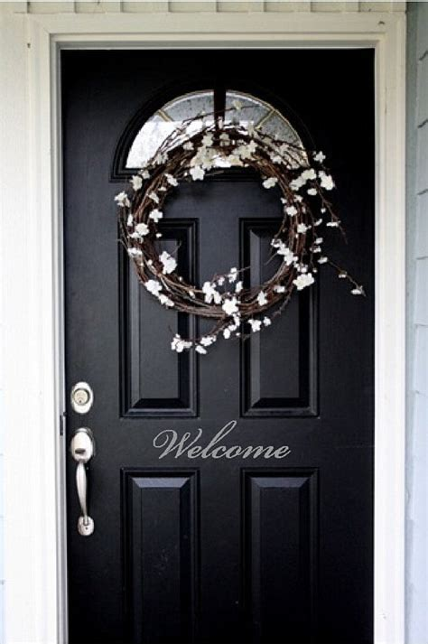 Welcome Decal For Front Door Items Similar To Welcome Front Door Entry Sign Decal