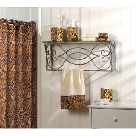 leopard bathroom sets 9 piece bathroom set with attractive leopard print
