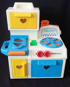 vintage 1990 fisher price play kitchen by lambfoundation
