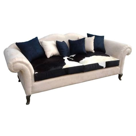 cow couch 3 seater sofa with cow skin seat madaame