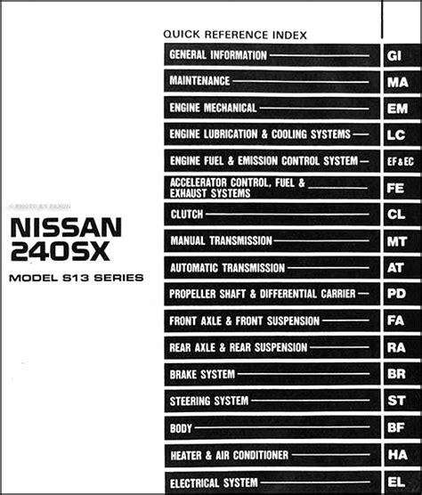 car engine manuals 1993 nissan sentra electronic valve timing service manual best car repair manuals 1993 nissan 240sx electronic valve timing service
