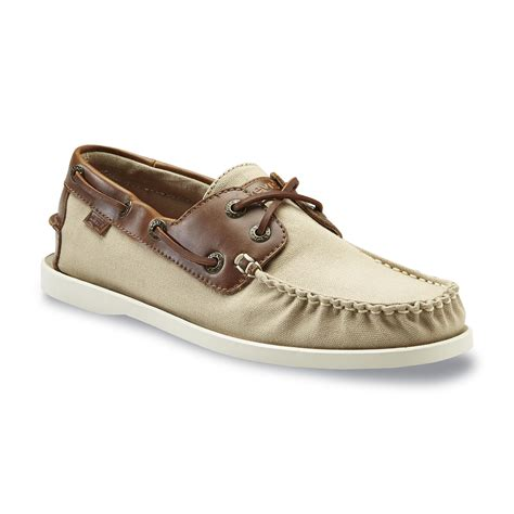 levis boat shoes mens levi s men s parker tan canvas boat shoe