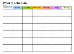 paper schedule templates print paper templates