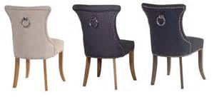 Olson ring back studded ivory dining chair