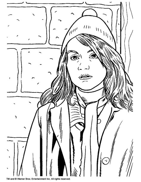 harry potter coloring pages ginny weasley hermione granger coloring pages hellokids com