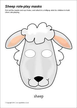printable animal role play masks printable farm animal masks for kids sparklebox