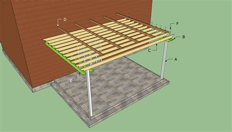 how to build a pergola pdf plans easy attached pergola plans howtospecialist how to build step by step diy plans